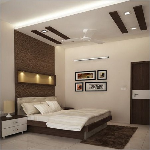 Brown Wooden Rectangular Fall Ceiling
