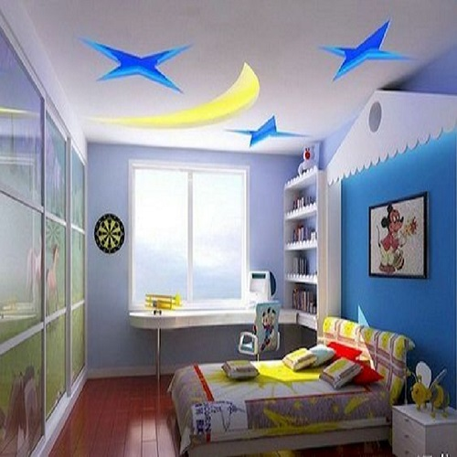 Kids Room False Ceiling With Stars And Moon