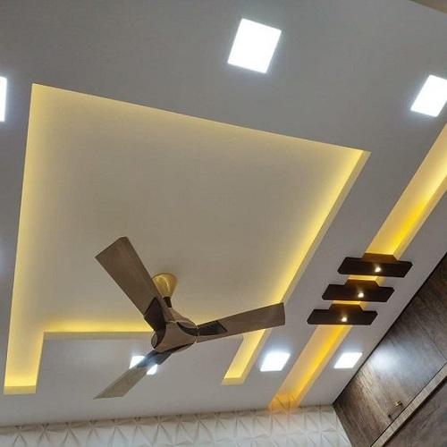 Rectangular False ceiling With Rope LightsFalse Ceiling ...