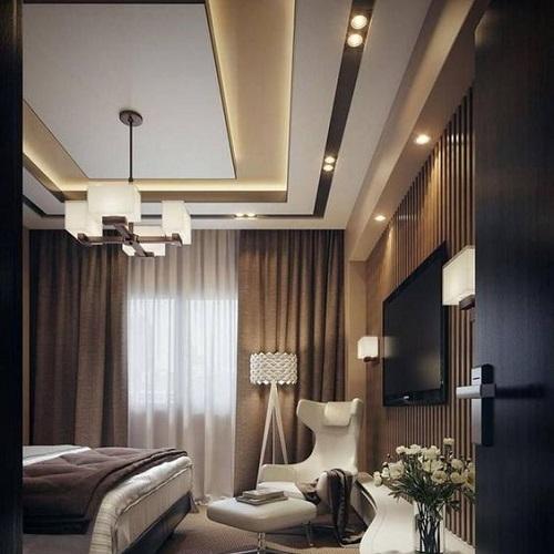 Elegant Rectangular Fall CeilingFalse Ceiling Design ...