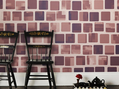 Mauve Brown Tile Pattern