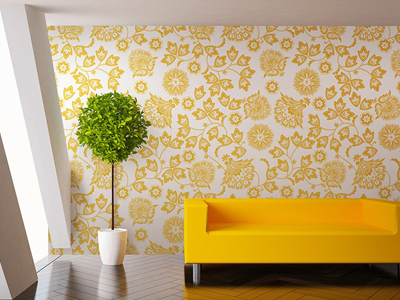 Yellow Seamless Foliage